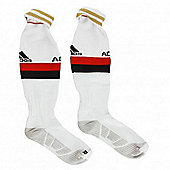 2013-14 AC Milan Adidas Away Football Socks - White