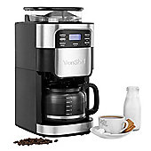 VonShef 12 Cup Digital Filter Coffee Maker Machine with Built-In Grinder 900W