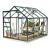 Simplicity Classic Aluminium Greenhouse 6ft3 wide (1918mm) x 8ft3 long (2538mm) Starter Package Green