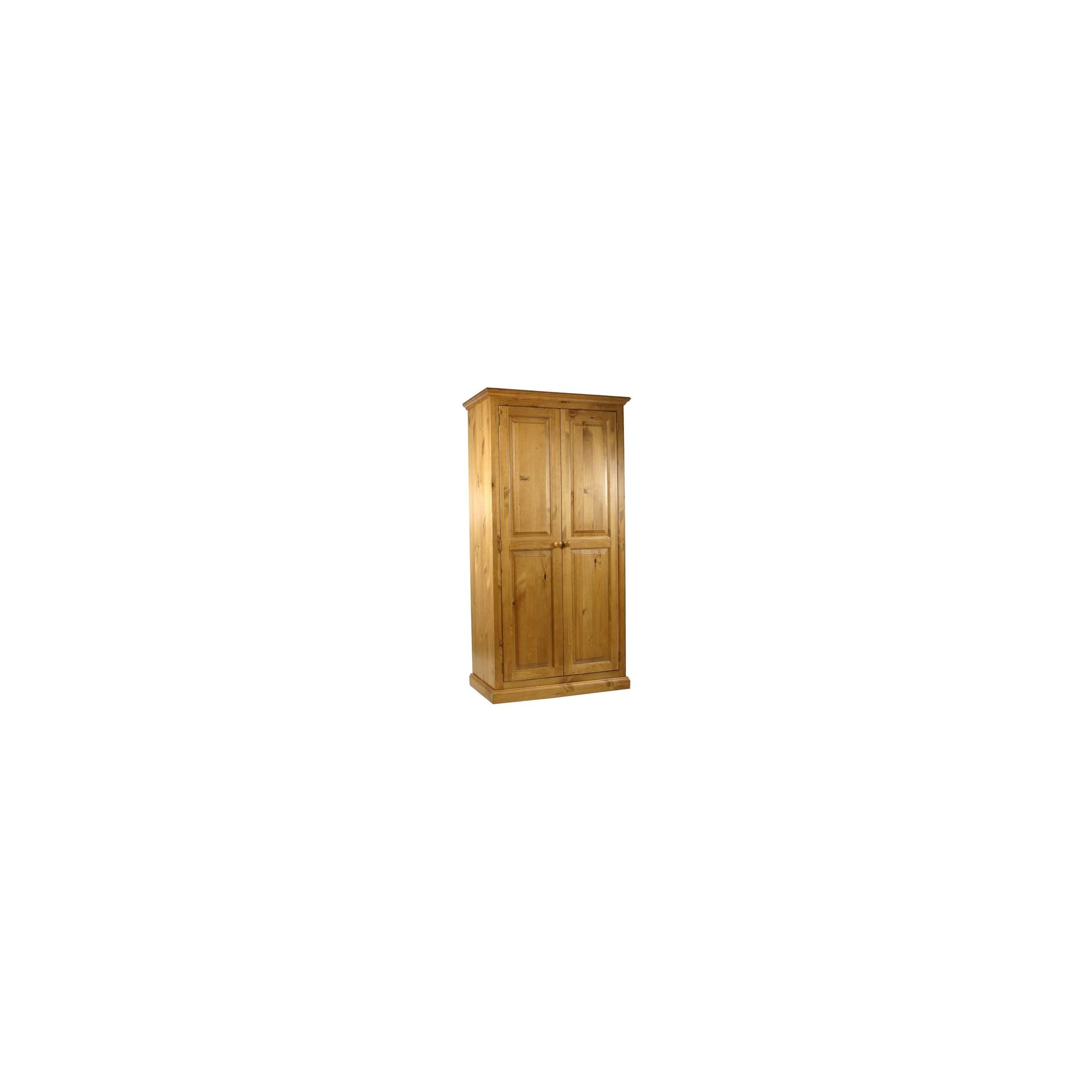 Kelburn Furniture Pine Full Hanging Small Wardrobe in Antique Wax Lacquer at Tescos Direct