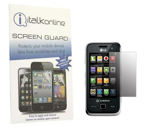 iTALKonline S-Protect LCD Screen Protector and Micro Fibre Cleaning Cloth - For  LG GM750
