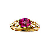 QP Jewellers 1.15ct Pink Topaz Catalan Filigree Ring in 14K Gold