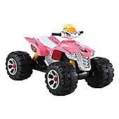 12v Interceptor Quad Bike Pink