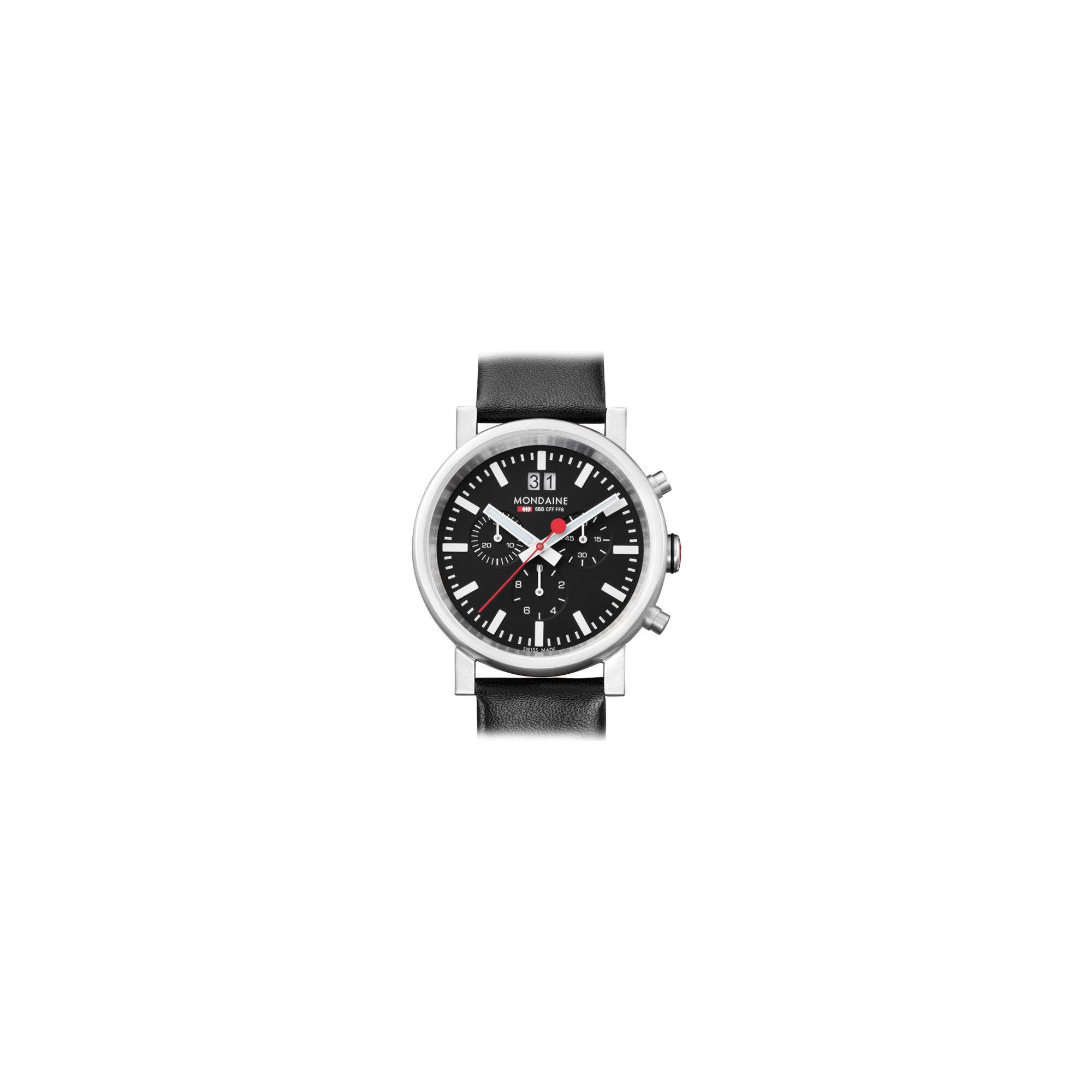 Mondaine Gents Chronograph Strap Watch A6903030414SBB at Tesco Direct