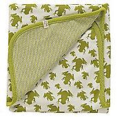 Pigeon Organics Reversible Blanket, Creatures Print (Green Frog)