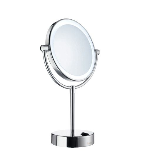 Smedbo Outline Freestanding Magnifying Lit Shaving Make up Mirror