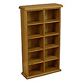 Oakland Medium Double Oak DVD Storage Cabinet / Oak CD Storage Cabinet