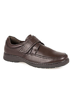Pavers Monk Velcro Shoe Black - 10 - Brown