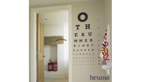 Romantic Eye Test Wall Sticker, Black