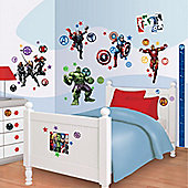 Marvel Avengers Room Decor Kit with Height Chart