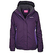 Moon Womens Snowproof Hooded Fleece Lined Snowboarding Skiing Ski Jacket - Purple