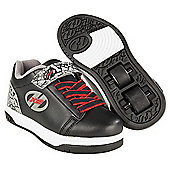 Heelys X2 Black and Grey Elephant Dual Up Skate Shoes - Grey