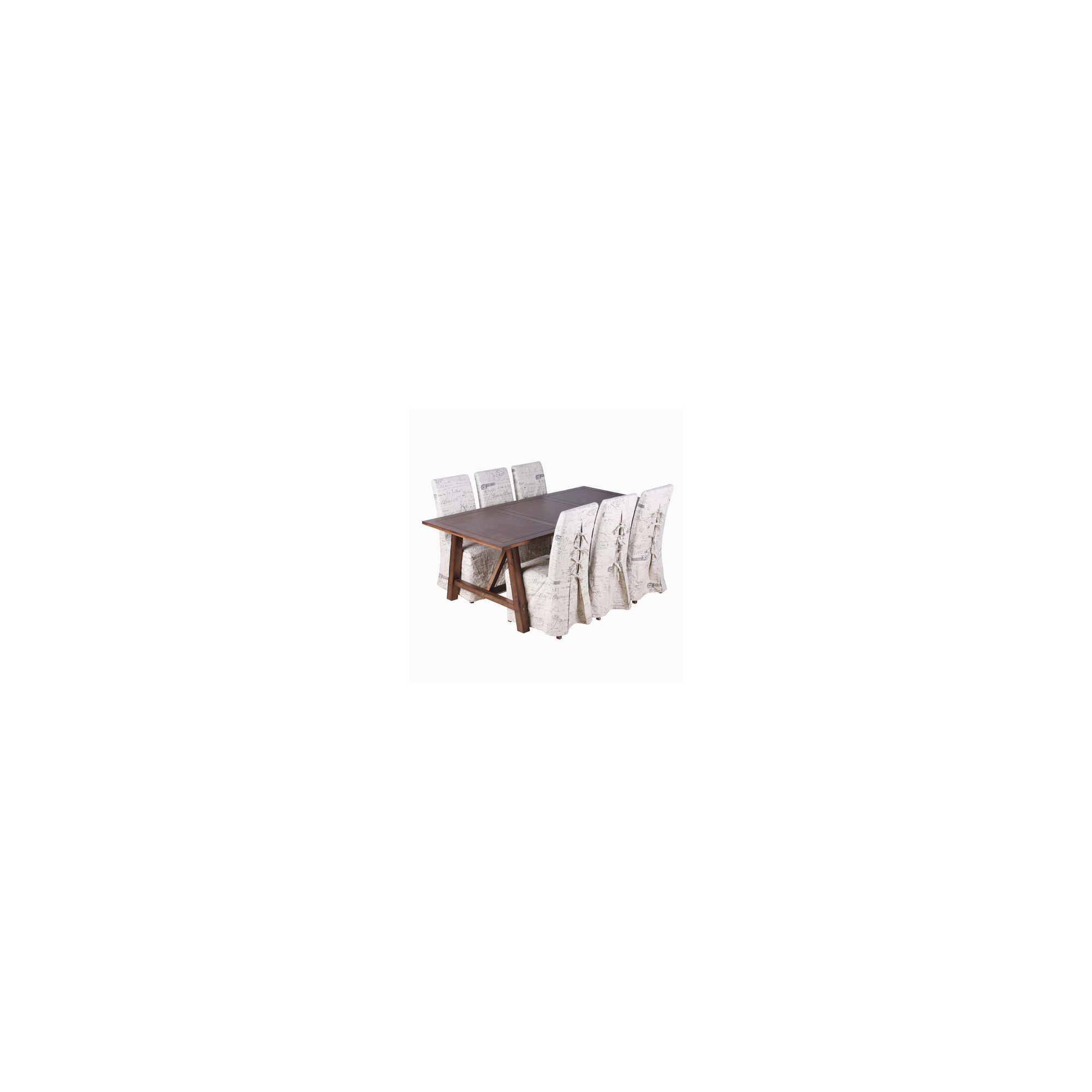 Home Zone Breton 7 Piece Distressed Dining Set at Tesco Direct