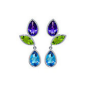 QP Jewellers 13.60ct Gemstone Petal Earrings in 14K White Gold