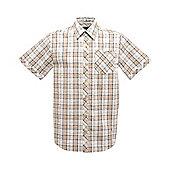 Regatta Mens Deakin Short Sleeve Shirt - Cream