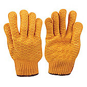Silverline Yellow Gripper Gloves Large