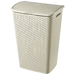Curver My Style 55L Laundry Hamper with Handle, Cream