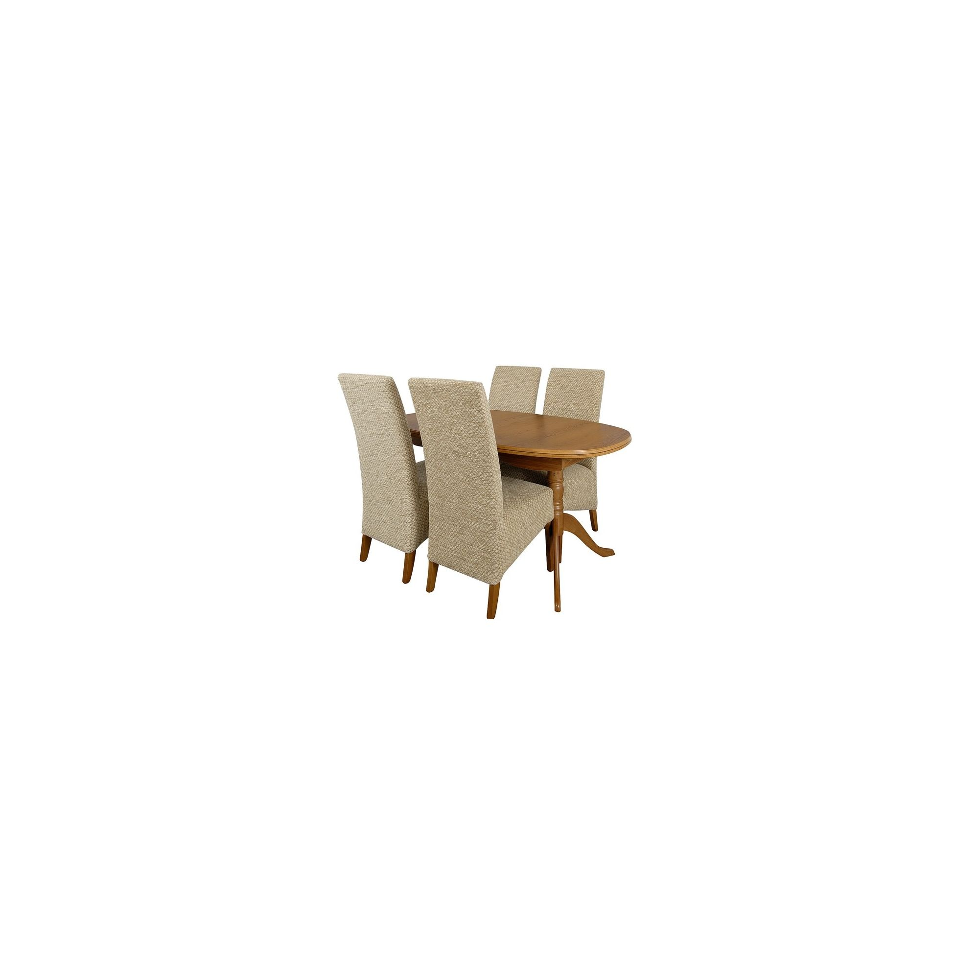 Caxton Canterbury 4 Chair Dining Set in Golden Chestnut at Tesco Direct