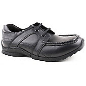 Skittles Boys Henry Black School Shoes - Black