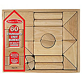 Melissa & Doug Wooden Blocks Natural finish