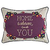 Home Cross Stitch Cushion
