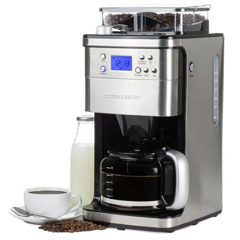 Buy Andrew James Filter Coffee Maker with Integrated Grinder from our Bean to Cup Coffee ...