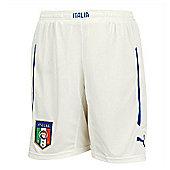 2014-15 Italy Puma Home Shorts (White) - White