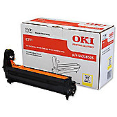 OKI 44318505 Image Drum for C711 A4 Colour Printers (Yield 20 000 Pages) - Yellow