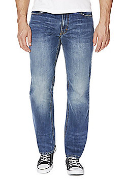 F&F Mid Wash Loose Fit Jeans - Mid wash