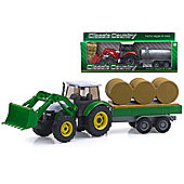 Classic Country 1:32 Vehicle Tractor Digger And Trailer