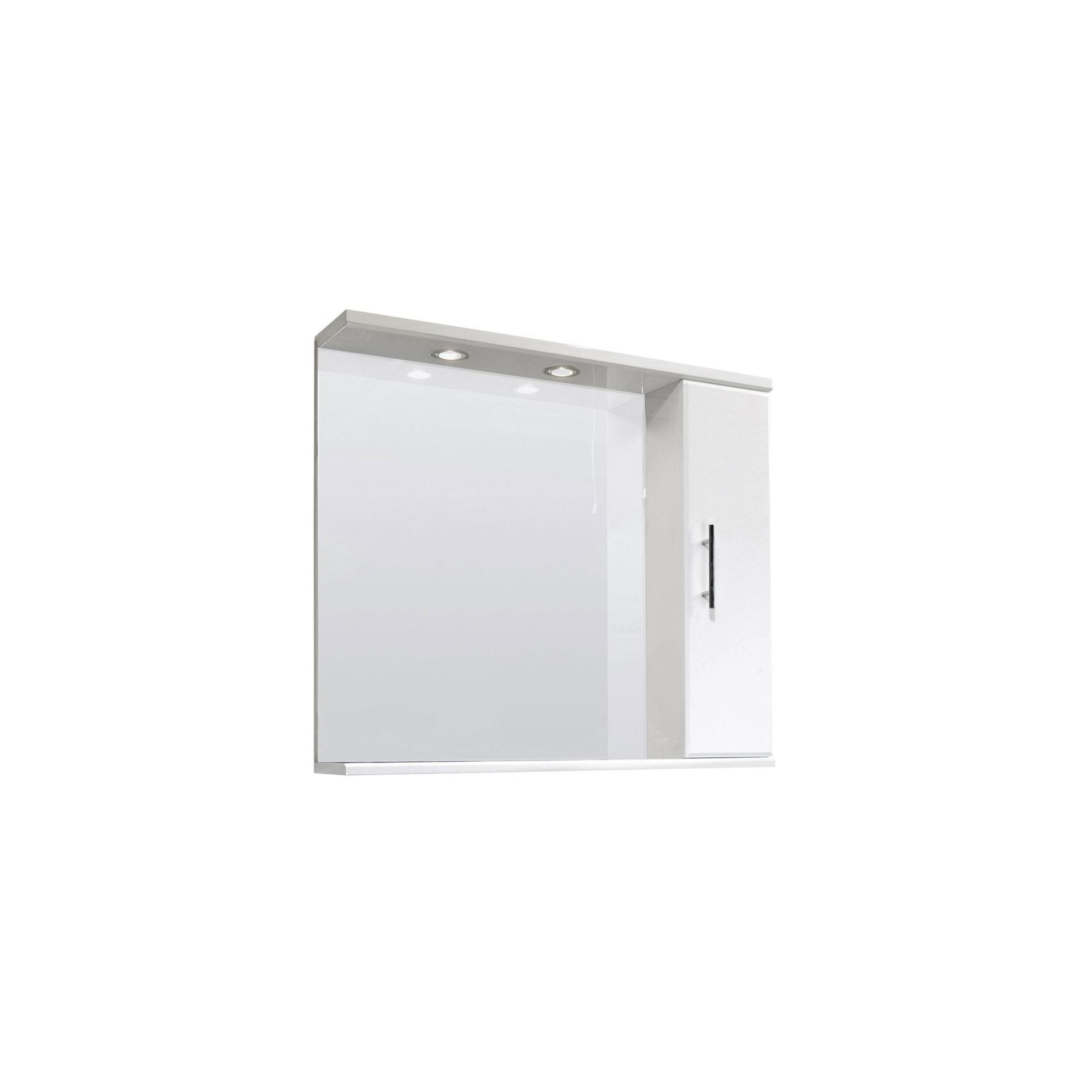 Premier Illuminated Mirror Vanity Cabinet 850mm High Gloss White