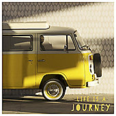 Retro Campervan Canvas Yellow 35 x 35cm