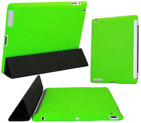 iTalkonline iPad 2 Transparent Smart ProGel Case - Green