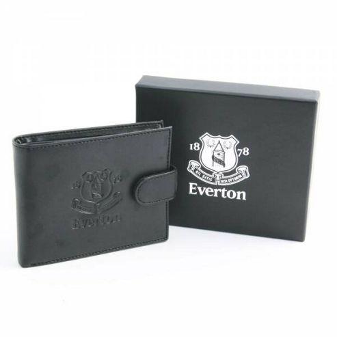 Everton FC Black Leather Wallet