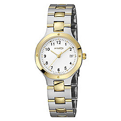 M-Watch Metal Classic Mens Gold Ion-plated Stainless Steel Date Watch A629.30548.40