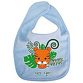Dirty Fingers Easy Tiger Baby Cute Bib Blue