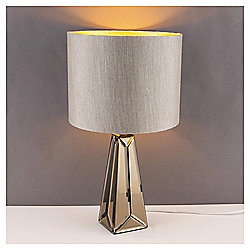 Gatsby Mirror Glass Table Lamp, Cognac