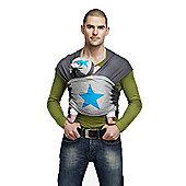 ByKay Medium Designer Baby Carrier (Grey Melee/Turquoise Star)