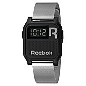 Reebok Vintage Nerd Unisex Stainless Steel Alarm Watch RC-VNE-U9-PBS1-B1