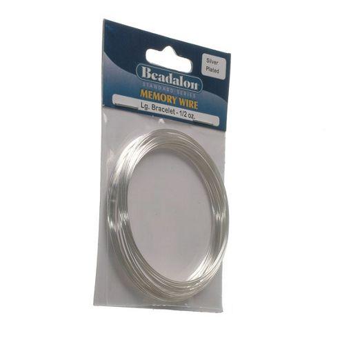 Beadalon Memory Wire Braclt Lg Silver Plate 0.5Oz