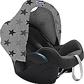 Dooky Hoody Replacement Infant Car Seat Hood Grey Stars