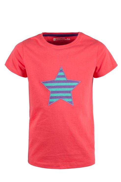 Stars And Stripes Kids Tee Shirt 100% Cotton Round Neck T-Shirt Top