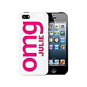 Personalised OMG Slogan iPhone 5 Case