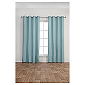 Canvas Lined Eyelet Curtains, Duck Egg (46 x 54'') - Duck egg