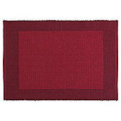 Tesco Ribbed Burgundy/Red Placemat