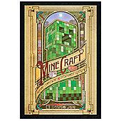 Black Wooden Framed Minecraft Creeper Statue Poster