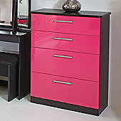 Welcome Furniture Knightsbridge 4 Drawer Deep Chest - Black - Ruby