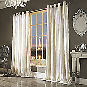 Iliana Eyelet Curtains - Cream