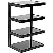 Norstone Esse 4 Shelf Hifi Stand in Black