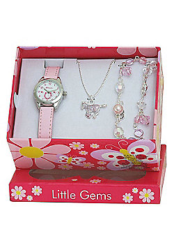 Girls Pink Pony Watch and Jewellery Gift Set